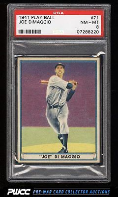1941 Play Ball Joe DiMaggio 71 PSA 8 NMMT PWCC