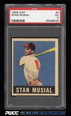 1948 Leaf Stan Musial ROOKIE RC 4 PSA 5 EX PWCC