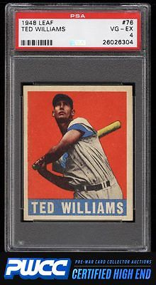 1948 Leaf Ted Williams 76 PSA 4 VGEX PWCCHE