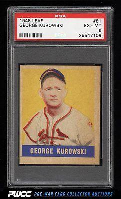 1948 Leaf George Kurowski SHORT PRINT 81 PSA 6 EXMT PWCC
