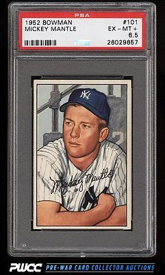 1952 Bowman Mickey Mantle 101 PSA 65 EXMT PWCC