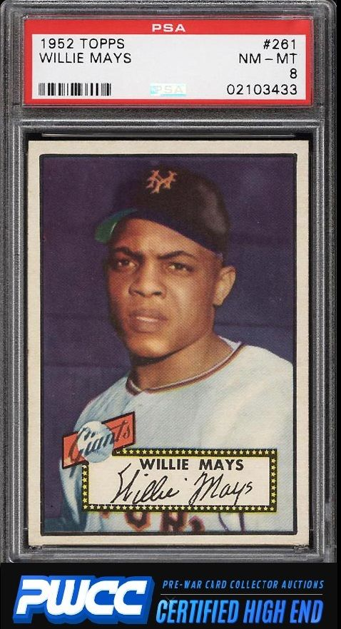 1952 Topps Willie Mays 261 PSA 8 NMMT PWCCHE