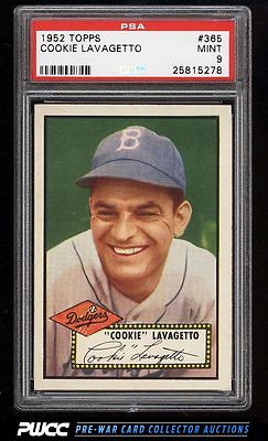 1952 Topps Cookie Lavagetto 365 PSA 9 MINT PWCC
