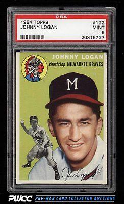 1954 Topps Johnny Logan 122 PSA 9 MINT PWCC