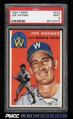 1954 Topps Joe Haynes 223 PSA 9 MINT PWCC