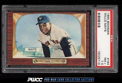 1955 Bowman Willie Mays 184 PSA 75 NRMT PWCC