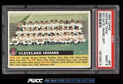 1956 Topps Indians Team NO DATE NAME LEFT WHITE BACK 85 PSA 9 MINT PWCC
