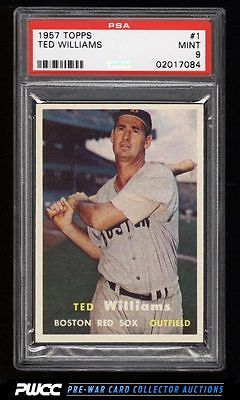 1957 Topps Ted Williams 1 PSA 9 MINT PWCC