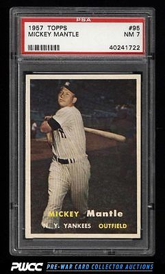 1957 Topps Mickey Mantle 95 PSA 7 NRMT PWCC
