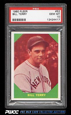 1960 Fleer SETBREAK Bill Terry 52 PSA 10 GEM MINT PWCC
