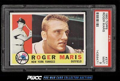 1960 Topps Roger Maris 377 PSA 9 MINT PWCC