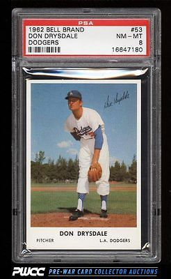 1962 Bell Brand Dodgers Don Drysdale 53 PSA 8 NMMT PWCC