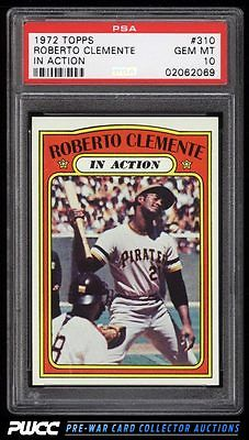 1972 Topps Roberto Clemente IN ACTION 310 PSA 10 GEM MINT PWCC
