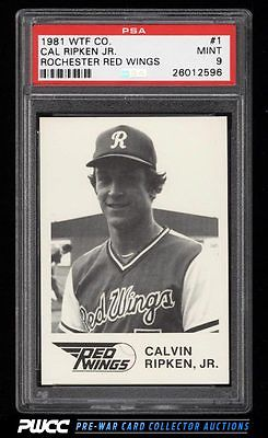 1981 WTF Rochester Red Wings Cal Ripken Jr ROOKIE RC 1 PSA 9 MINT PWCC