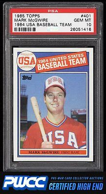 1985 Topps Mark McGwire ROOKIE RC 401 PSA 10 GEM MINT PWCCHE