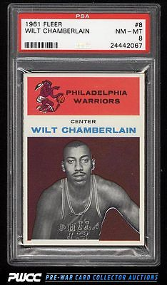 1961 Fleer Basketball Wilt Chamberlain ROOKIE RC 8 PSA 8 NMMT PWCC