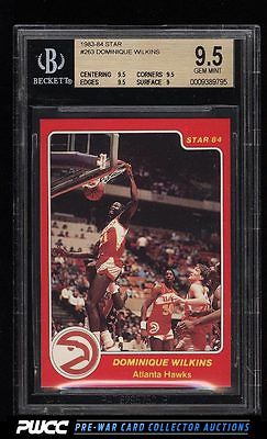 198384 Star Basketball Dominique Wilkins ROOKIE RC 263 BGS 95 GEM MINT PWCC