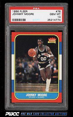 1986 Fleer Basketball SETBREAK Johnny Moore 76 PSA 10 GEM MINT PWCC