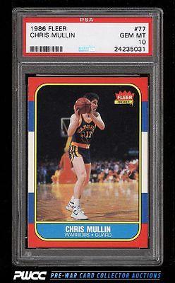 1986 Fleer Basketball SETBREAK Chris Mullin ROOKIE RC 77 PSA 10 GEM MINT PWCC