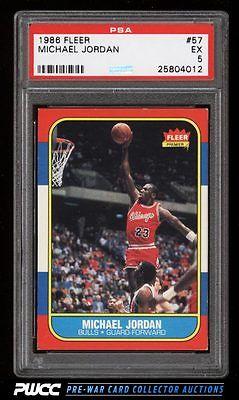 1986 Fleer Basketball Michael Jordan ROOKIE RC 57 PSA 5 EX PWCC