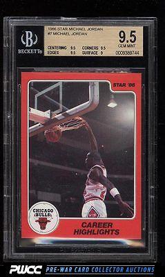 1986 Star MJ Michael Jordan ROOKIE RC 7 BGS 95 GEM MINT PWCC