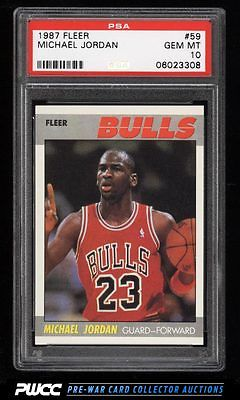 1987 Fleer Basketball Michael Jordan 59 PSA 10 GEM MINT PWCC