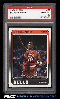 1988 Fleer Basketball Scottie Pippen ROOKIE RC 20 PSA 10 GEM MINT PWCC