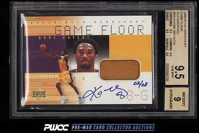 2000 UD Hardcourt Game Floor Kobe Bryant AUTO PATCH 08 BGS 95 GEM MINT PWCC