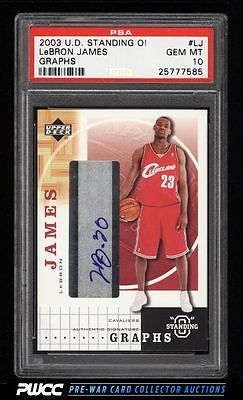 2003 UD Standing O Graphs LeBron James ROOKIE RC AUTO PSA 10 GEM MINT PWCC