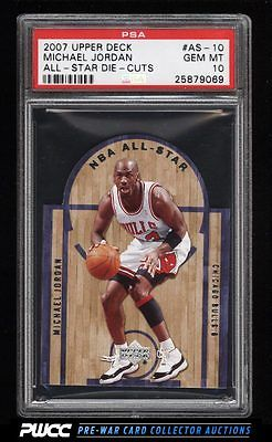 2007 Upper Deck AllStar DieCut Michael Jordan AS10 PSA 10 GEM MINT PWCC