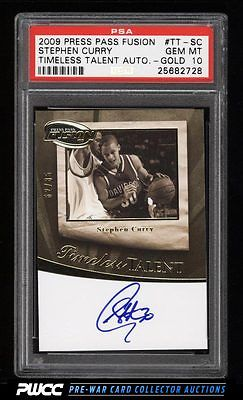 2009 Press Pass Fusion Timeless Gold Stephen Curry ROOKIE AUTO 85 PSA 10 PWCC