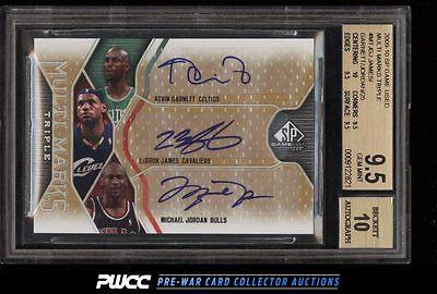 2009 SP Game Used Marks LeBron James  Michael Jordan 25 AUTO BGS 95 PWCC