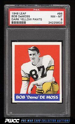 1948 Leaf Football Bob Demoss 86 PSA 8 NMMT PWCC