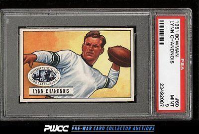 1951 Bowman Football Lynn Chandnois 60 PSA 9 MINT PWCC