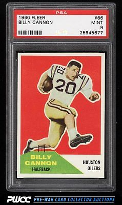 1960 Fleer Football Billy Cannon ROOKIE RC 66 PSA 9 MINT PWCC
