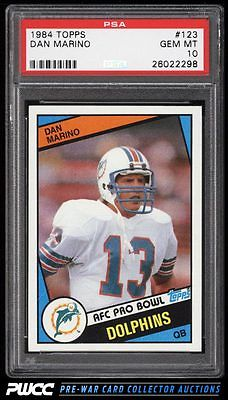 1984 Topps Football Dan Marino ROOKIE RC 123 PSA 10 GEM MINT PWCC