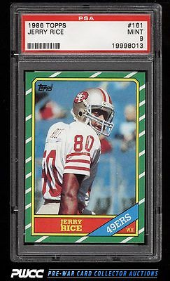 1986 Topps Football Jerry Rice ROOKIE RC 161 PSA 9 MINT PWCC