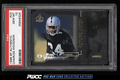 1998 SP Authentic Charles Woodson ROOKIE RC 2000 23 PSA 10 GEM MINT PWCC