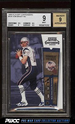 2000 Playoff Contenders Tom Brady ROOKIE RC AUTO 144 BGS 9 MINT PWCC