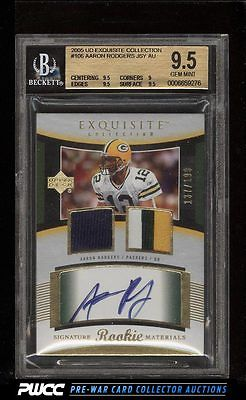 2005 Exquisite Collection Aaron Rodgers ROOKIE RC PATCH 199 106 BGS 95 PWCC