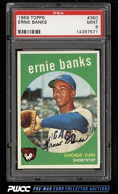 1959 Topps SETBREAK Ernie Banks 350 PSA 9 MINT PWCC