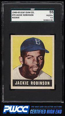 1948 Leaf Jackie Robinson ROOKIE RC 79 SGC 4555 VGEX PWCCHE