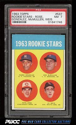 1963 Topps Pete Rose ROOKIE RC 537 PSA 7 NRMT PWCC