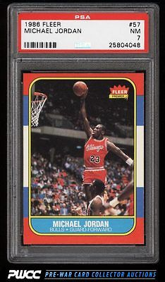 1986 Fleer Basketball Michael Jordan ROOKIE RC 57 PSA 7 NRMT PWCC