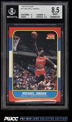 1986 Fleer Basketball Michael Jordan ROOKIE RC 57 BGS 85 NMMT PWCC