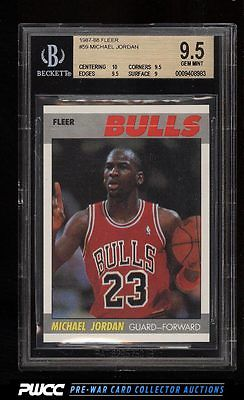 1987 Fleer Basketball Michael Jordan 59 BGS 95 GEM MINT PWCC