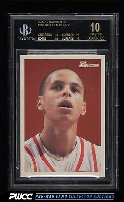 2009 Bowman 48 Stephen Curry ROOKIE RC 2009 106 BGS 10 PRISTINE PWCC