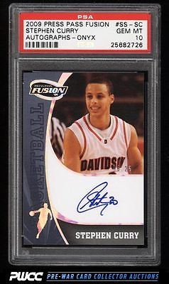 2009 Press Pass Fusion Onyx Stephen Curry ROOKIE AUTO 25 PSA 10 GEM MINT PWCC