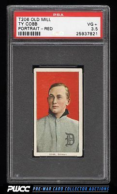 190911 T206 Ty Cobb RED PORTRAIT OLD MILL PSA 35 VG PWCC
