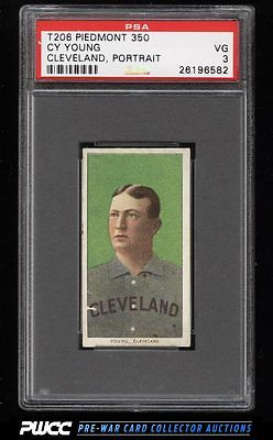 190911 T206 Cy Young CLEVELAND PORTRAIT PSA 3 VG PWCC